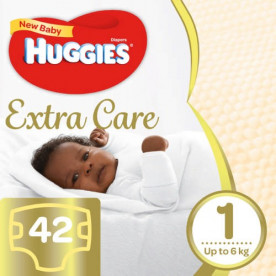 Huggies Extra Care (Size 1) 42s